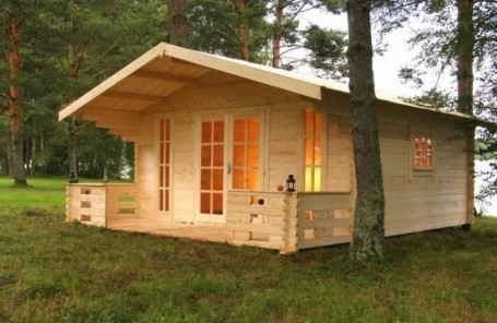Factory-made wooden garden/summer houses, sauna